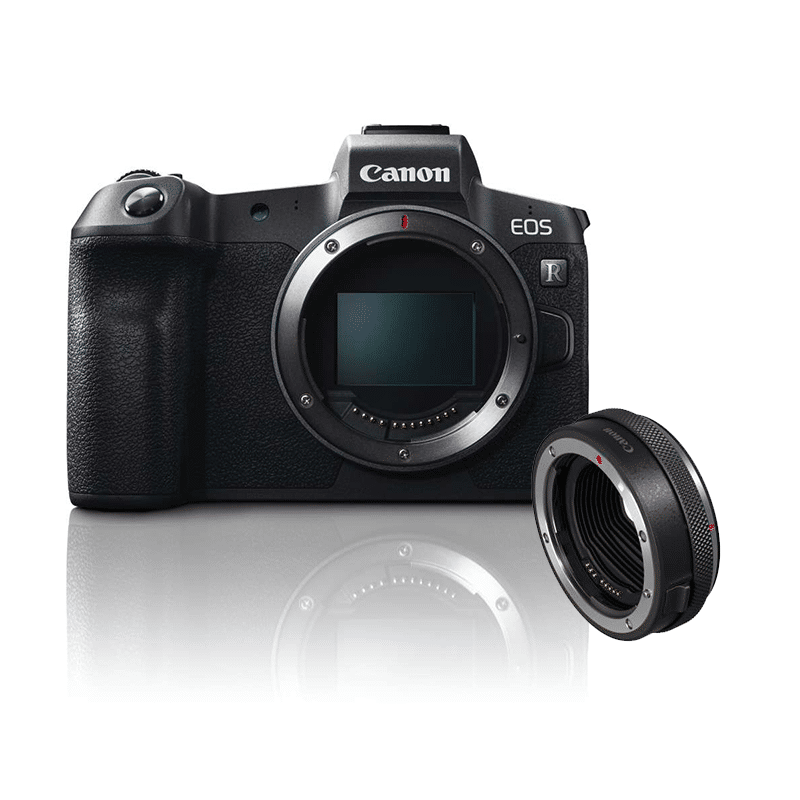Canon EOR R + adapter
